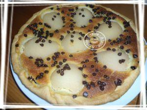 Recette Tarte aux poires gourmande