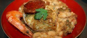 Recette Cassoulet de la mer au chorizo « Cabillaud, Crevettes,Chorizo, »