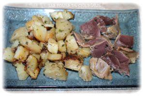 Recette Poêlée pommes de terre gésiers confits