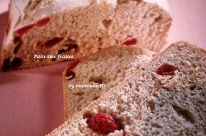 Recette Pain aux fraises en Machine à pain