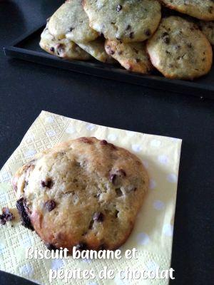 Recette Biscuit aux bananes et pepites de chocolat