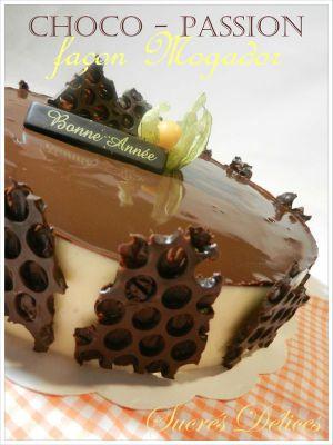Recette Entremets chocolat - passion façon Mogador