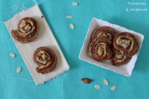 Recette Escargots feuilletés au chocolat et aux amandes