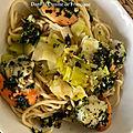 Recette Coquilles Saint Jacques - Spaghettis et Poireaux