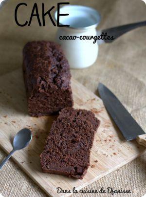 Recette Cake au cacao {et courgette}