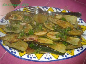 Recette Courgettes à l'escabèche, recette napolitaine