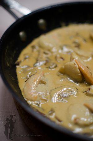 Recette Coquilles st jacques à l'huile de coco et au curry