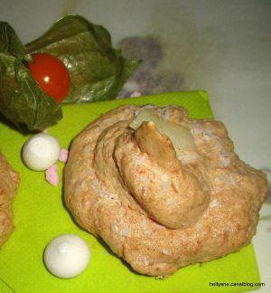 Recette Rochers meringués à la noix de coco râpée