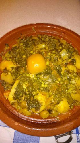 Recette Tajine poulet legumes