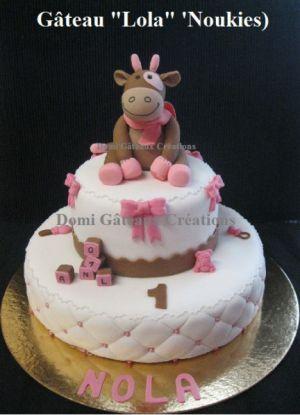 """Recette Gâteau """"Lola"""" en Pâte à Sucre (Noukies)"""