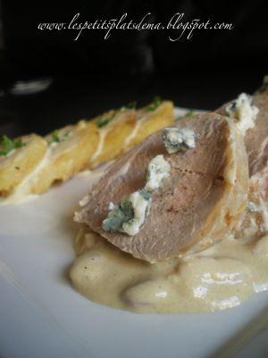 Recette Filet mignon de porc au Roquefort