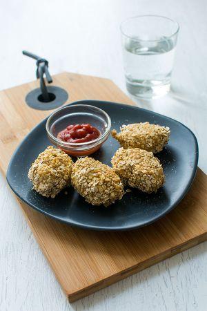 Recette Nuggets de poulet aux flocons d'avoine {Moulinex Cuisine Companion}