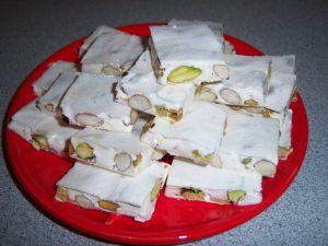 Recette Nougat amandes et pistaches
