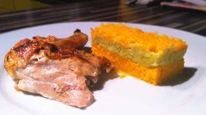 Recette Poulet et sa  fondue de poireaux  et riz