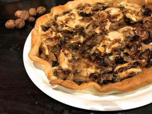 Recette Tarte aux chou blanc, champignons et reblochon