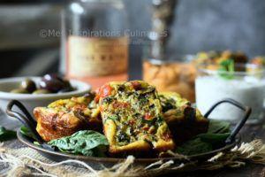 Recette Frittata épinards champignons et poivron rouge