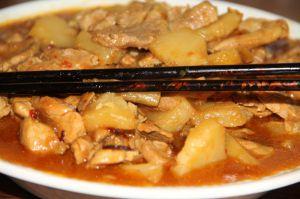 Recette Saute de porc au curry et a l'ananas