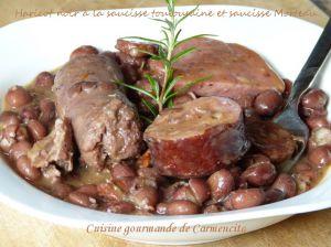 Recette Haricots noirs ((Frijoles negros) à la saucisse toulousaine et saucisse Morteau