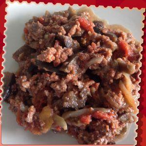 Recette Boeuf haché aux aubergines au Cookeo