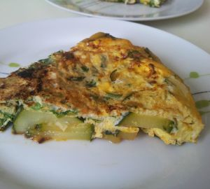 Recette Fritatta aux courgettes, omelette italienne
