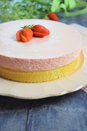 Recette Gâteau nuage aux fraises