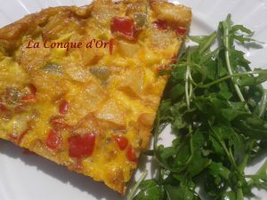 Recette Frittata aux poivrons et pommes de terre, au four