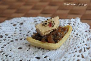 Recette Tartelettes foie gras et son confit d'oignon
