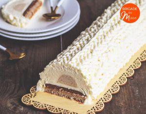 Recette Bûche vanille caramel