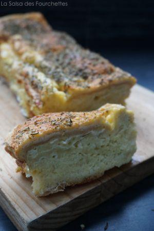 Recette CROQUE CAKE au Fromage et aux Herbes
