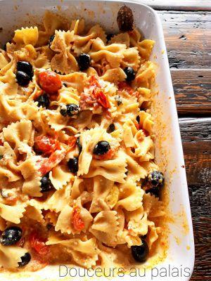Recette Pâtes à la feta, aux tomates cerises et aux olives