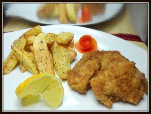 Recette Nuggets de poulet / frites au thym maison