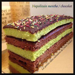 Recette Napolitain menthe / chocolat