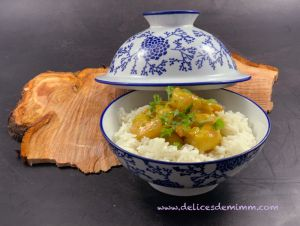 Recette Curry de crevettes au lait de coco