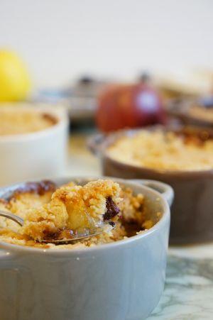Recette Crumble pommes-poires-chocolat