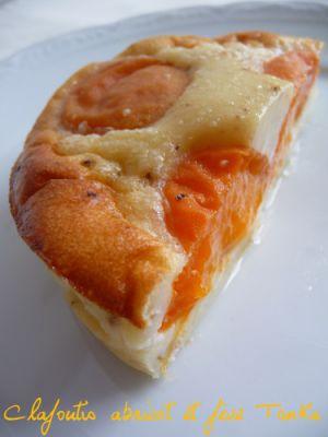 Recette Clafoutis aux abricots et fève Tonka