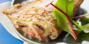 Recette Crepes jambon chamapignon
