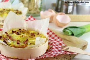 Recette Quiche sans Pâte Poireaux, Lardons & Camembert