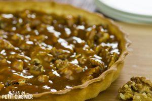 Recette Tarte aux noix et caramel (tarte grenobloise)