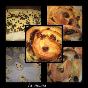Recette Pains aux raisins..et pains choco