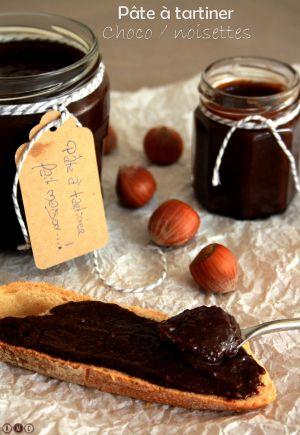 Recette Pâte à tartiner chocolat / noisettes