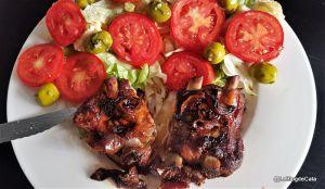 Recette Ribs/ Travers de porc aux  quetsches et à la sauce soja