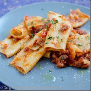Recette Paccheri à la saucisse italienne