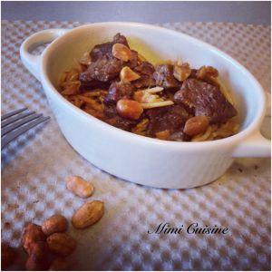 Recette Emincé de boeuf à la cacahuète #Cookeo
