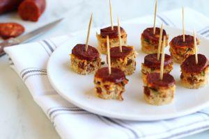 Recette Frittata au chorizo et à la tomate façon bouchées apéritives