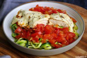 Recette Poulet mozzarella sauce tomate
