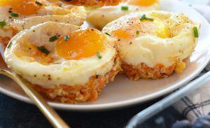 Recette Muffins déjeuner aux œufs et patates douces