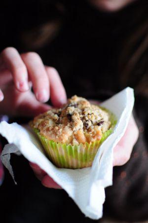 Recette Muffins aux pommes, crumble chocolat