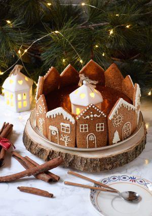 Recette Couronne de maisons – Biscuits pain d'épices au Golden Syrup