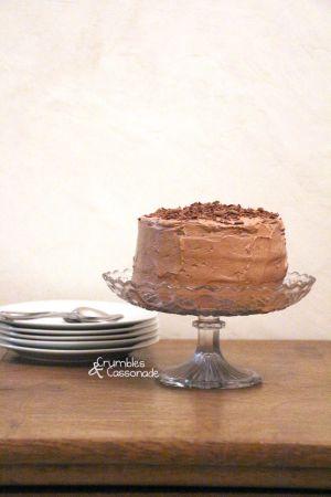 Recette Layer cake au chocolat et au caramel au beurre salé pour un anniversaire un peu spécial!