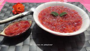Recette Compote cerises et pommes au Cookéo